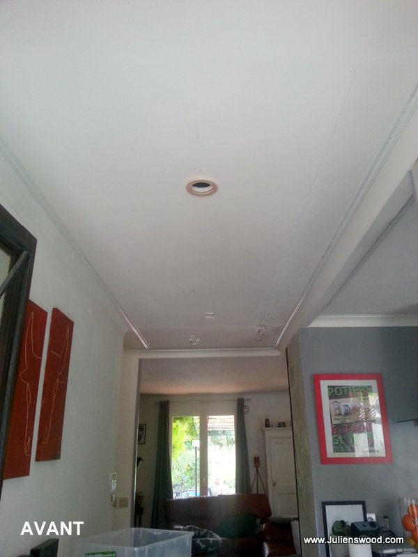 R novation plafonds fissur s for Faux plafond renovation