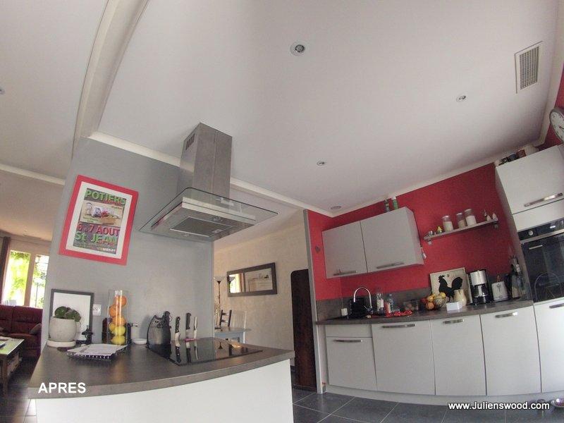 R novation plafonds fissur s for Plafond tendu cuisine