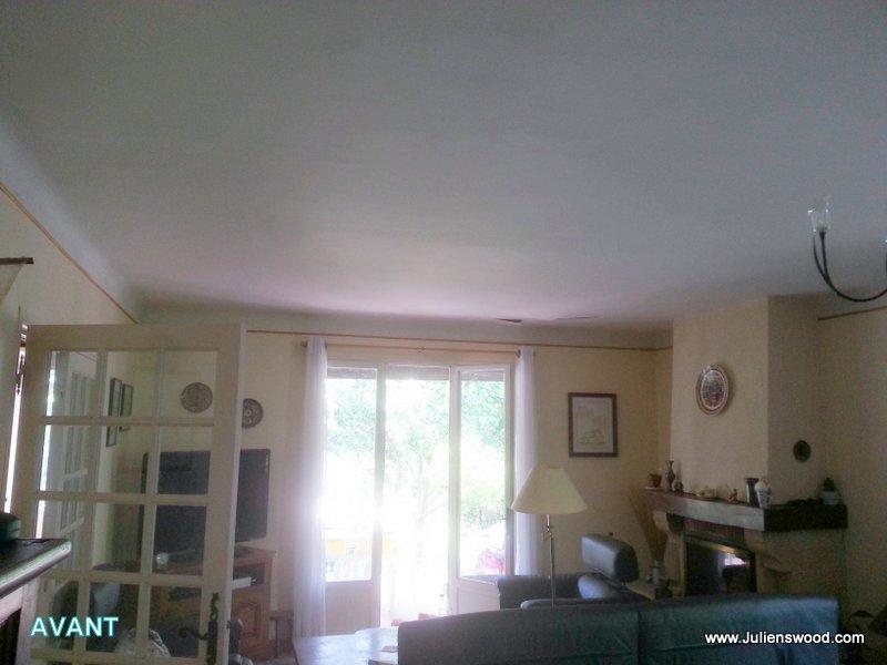 R novation d 39 un faux plafond pl tre fissur plafonds et for Faux plafond chauffant