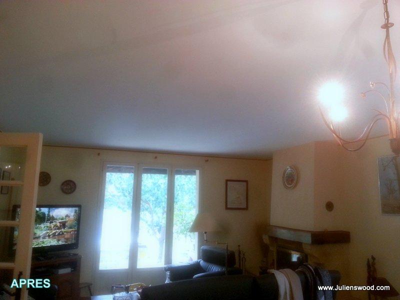 r novation d 39 un faux plafond pl tre fissur plafonds et murs tendus. Black Bedroom Furniture Sets. Home Design Ideas